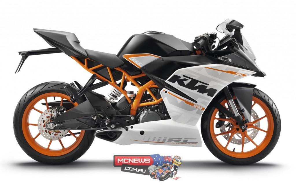 The RC 390 makes up a third of KTM's roadbike sales volume in Australia