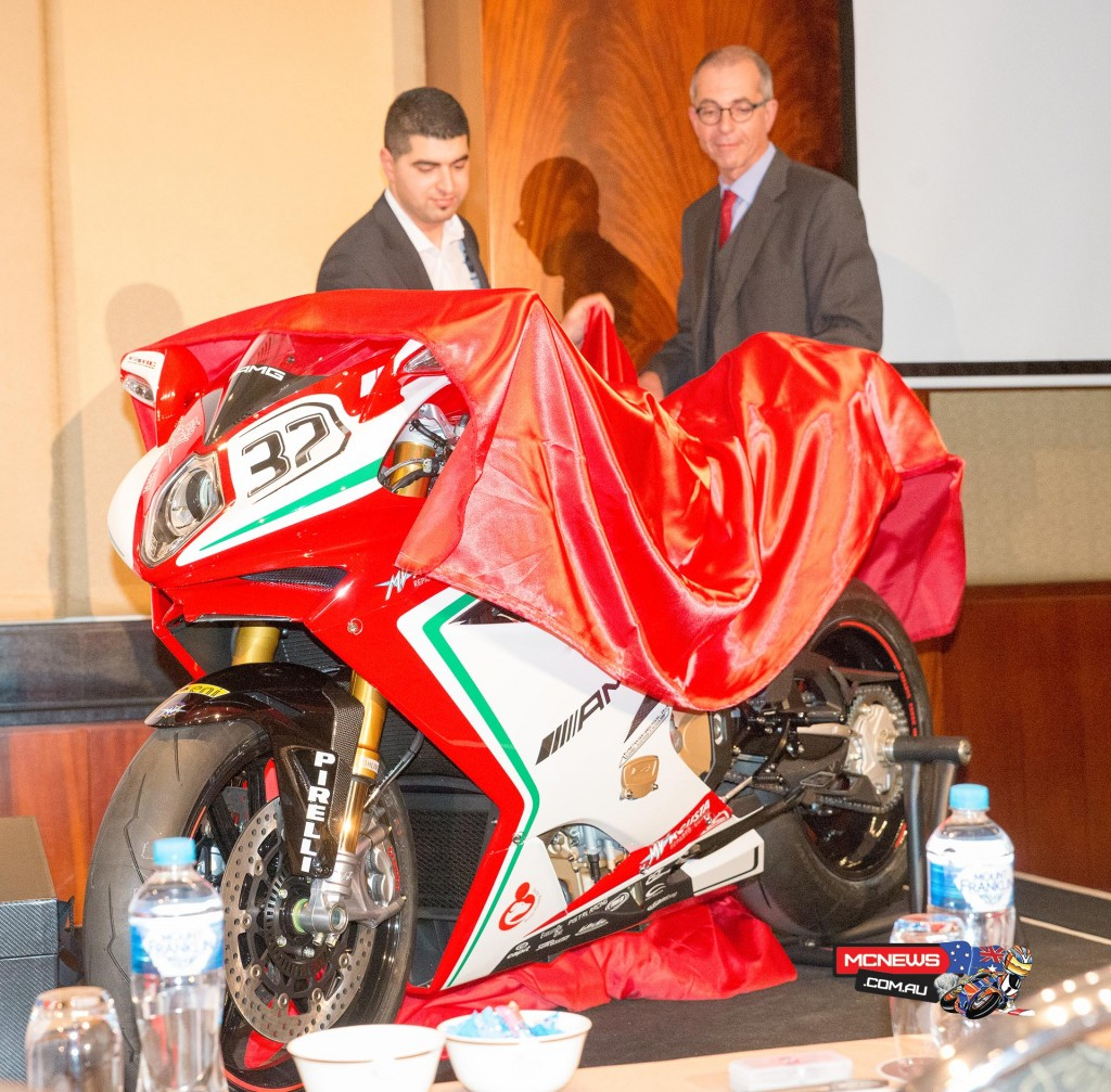 MV Agusta F4 RC Melbourne Reveal by Horst Van Sanden (Mercedes AMG) and Joseph Elasmar (Urban Moto Imports)