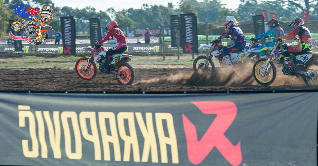 Daniel McCoy fired off the concrete start like a scalded cat in the second moto, and it was his machine, and the SFC crew, that carried off the retro theme the best at Shepparton.