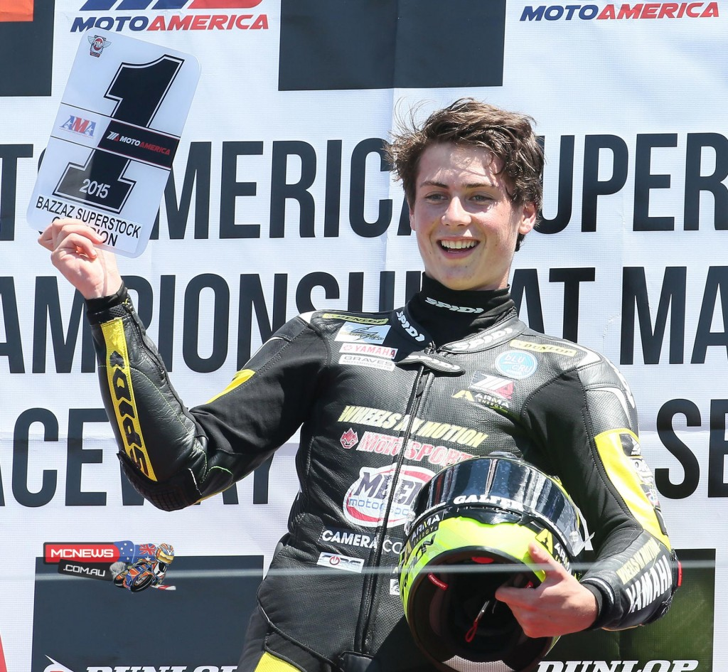 Joe Roberts wrapped up the MotoAmerica Superstock 600 crown with a victory at Mazda Raceway Laguna Seca on Saturday. Photography by Brian J. Nelson.