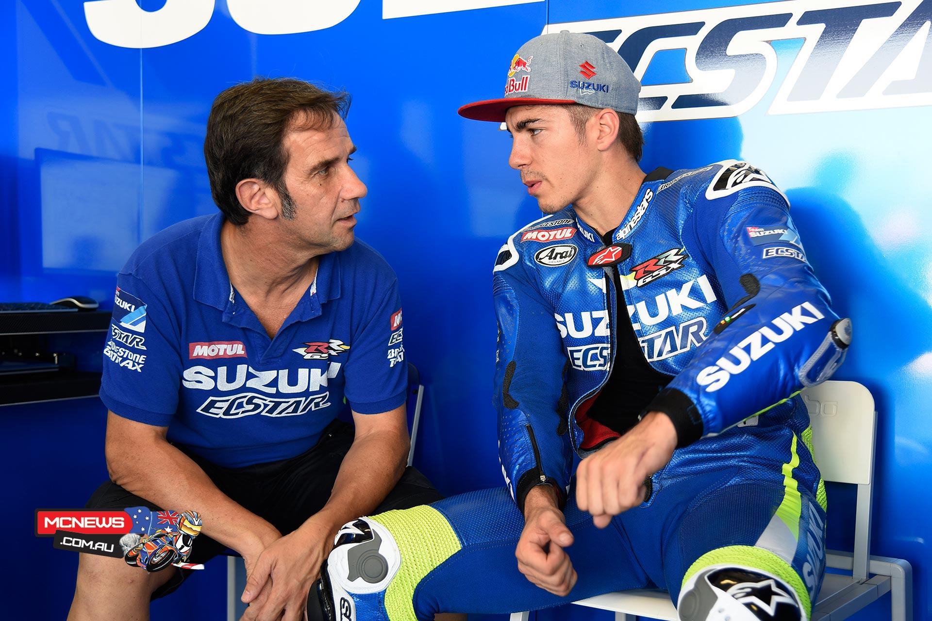 Maverick Vinales and Davide Brivio