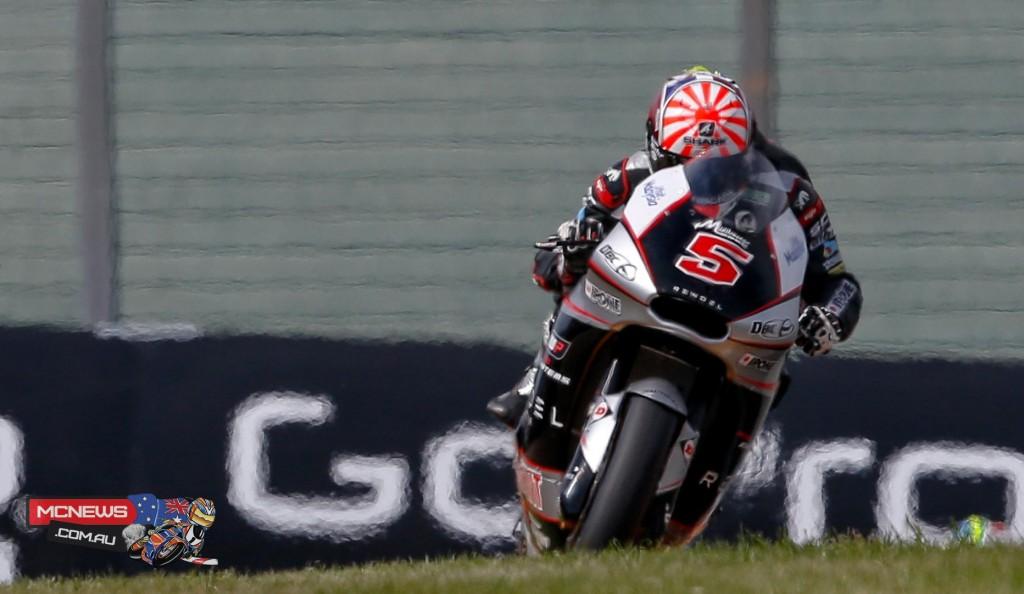 French rider Johann Zarco will start from pole for the German GP Moto2 race, ahead of Xavier Simeón & Franco Morbidelli.