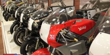 An impressive line-up of rotary engined Nortons at the National Motorcycle Museum