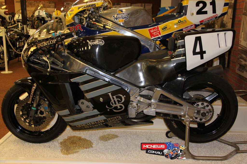 JPS liveried rotary Norton on display at the National Motorcycle Museum