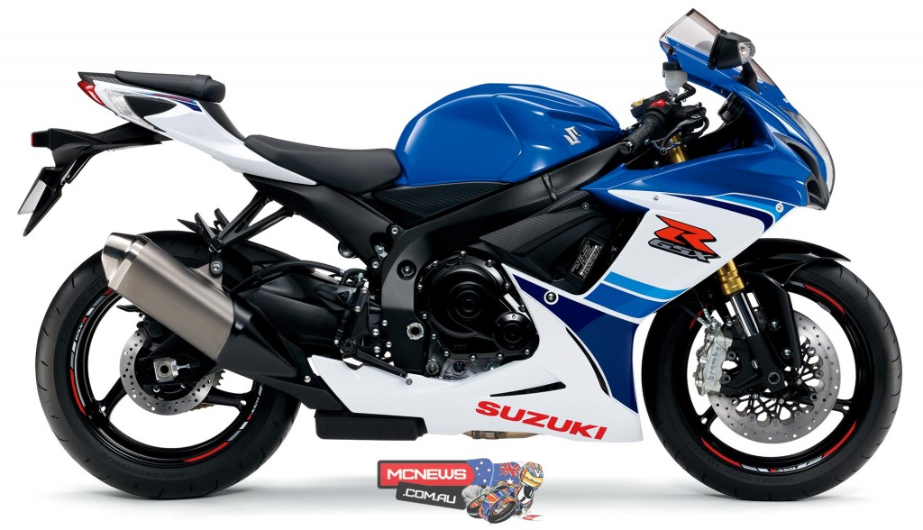 The 30th Anniversary edition GSX-R750 will be available in the heritage racing Pearl Blue/Pearl White livery for a recommended price of $15,990*, limited to 30 units in 2015 and will be on sale early October.