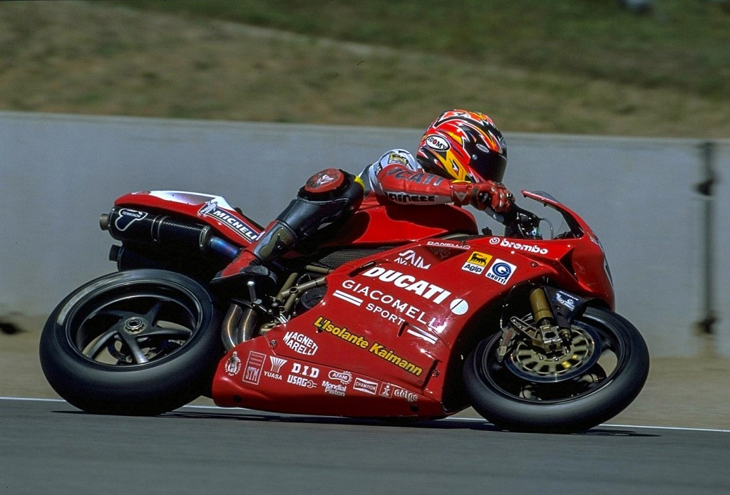 Troy Corser (USA) was on pole position at Laguna Seca in 1999