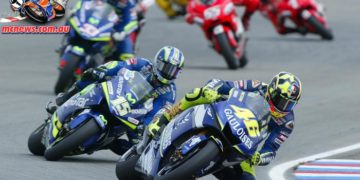 Valentino Rossi on his way to victory at Brno in 2005
