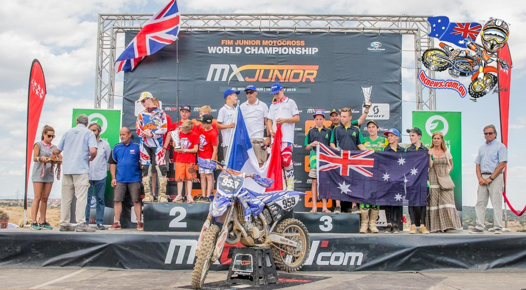 Team France proved to have the fastest pro riders in the world when they won the 2014 Monster Energy FIM Motocross of Nations and now they have proven to have the fastest juniors with their team of young talents winning the title junior nations title ahead of Team Great Britain and Team Australia, at the 2015 Junior World Motocross Championships held in El Molar, Madrid, Spain on the weekend, 18/19 July, 2015.