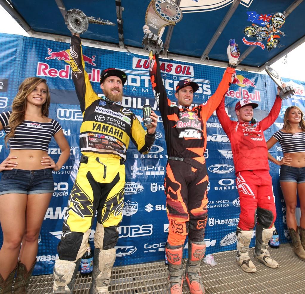 AMA Motocross Unadilla 2015 450cc Podium