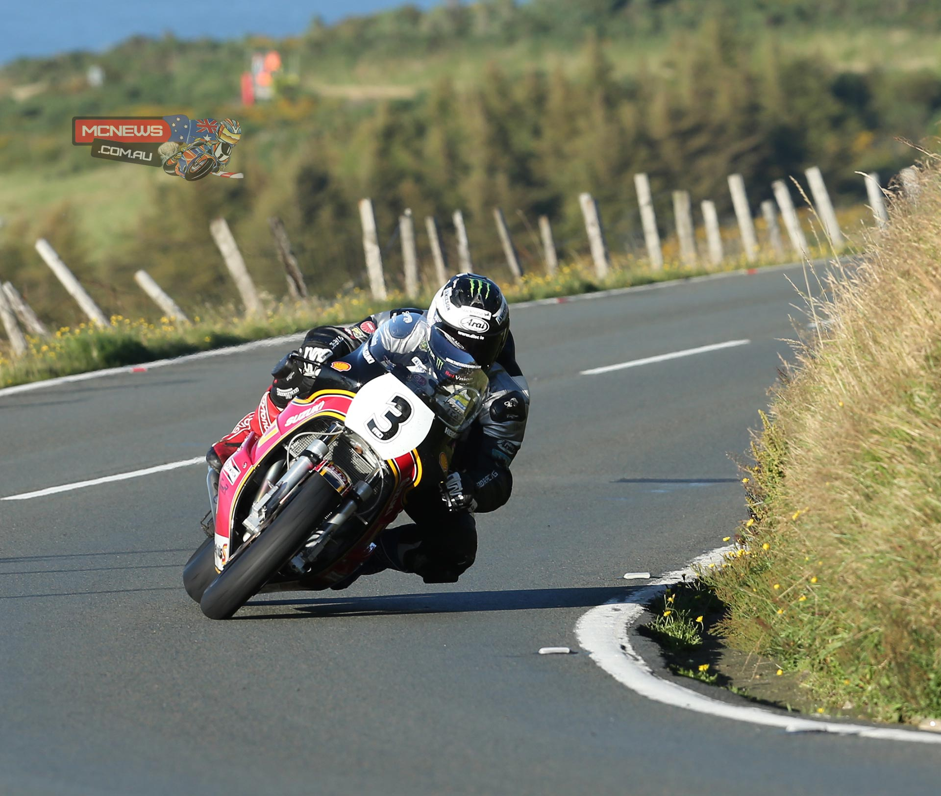 Michael Dunlop in action during Thursday's Classic TT qualifying session