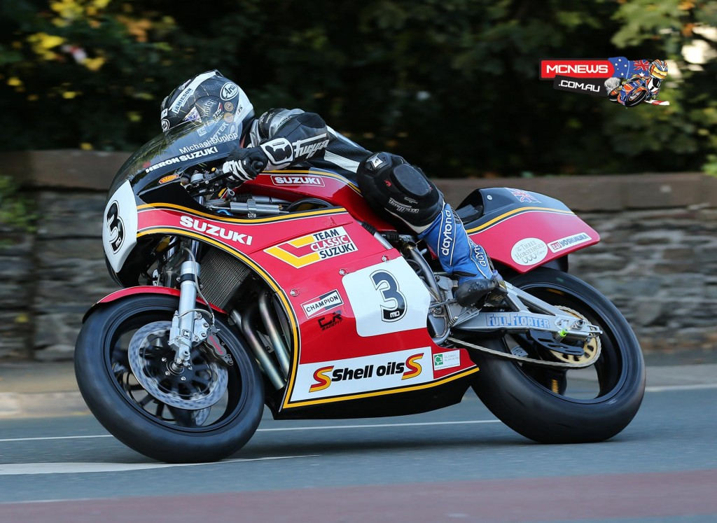 Michael Dunlop on his 1100cc Suzuki Formula One entry