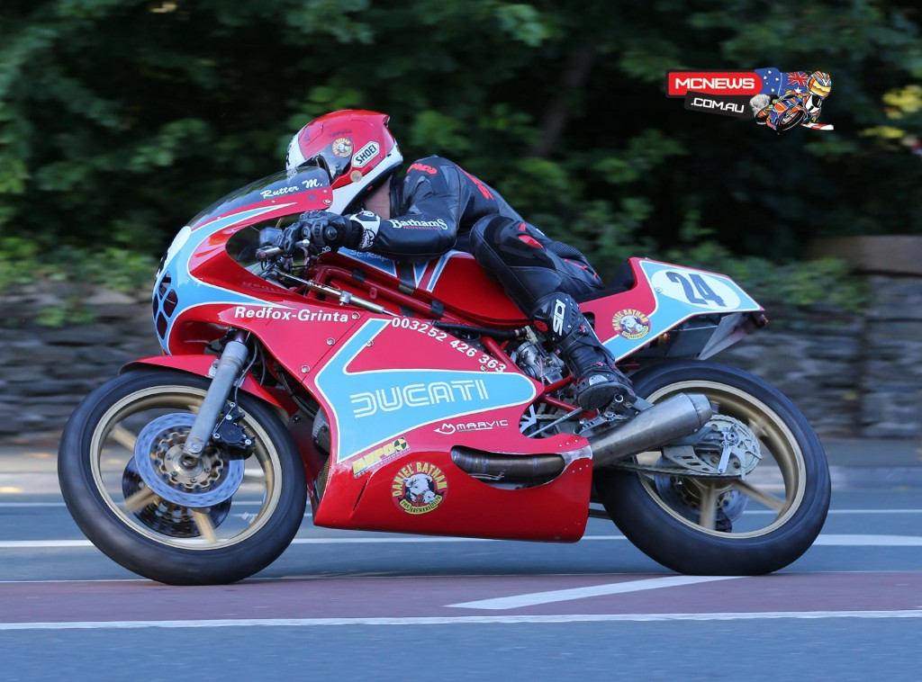 Michael Rutter's beautiful Ducati - a perfect replica of the bike raced to success by his father, Tony, in the 1980s.