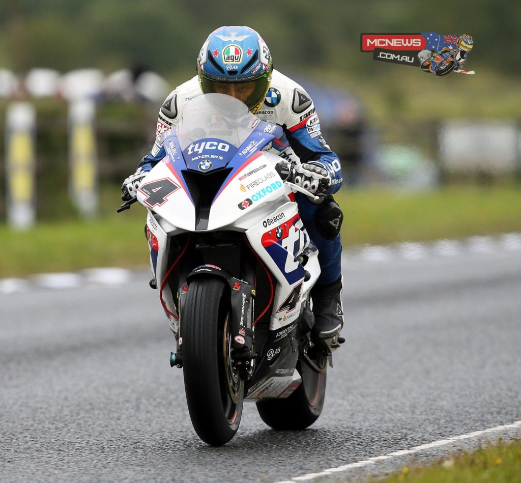 Guy Martin leads the pack in untimed practice as challenging conditions curtail action at Dundrod