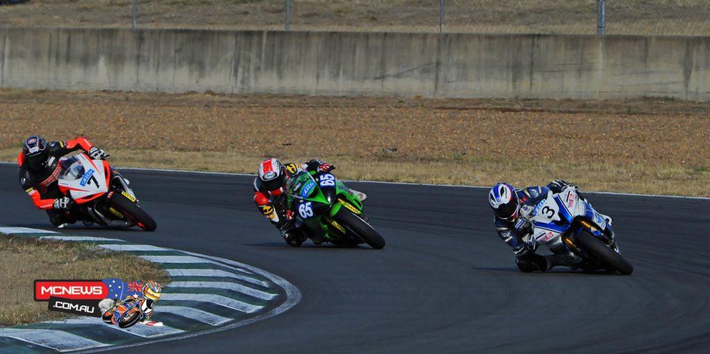 Callum Spriggs, Troy Guenther, Brayden Elliott - 2015 Swann Insurance Australasian Superbike Championship - Round Four - Queensland Raceway