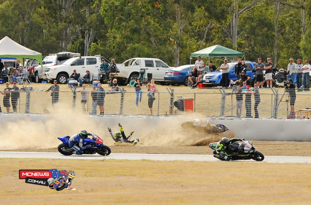 Cru Halliday crashes out at Queensland Raceway