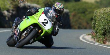 James Hillier riding a classic Kawasaki ZXR750