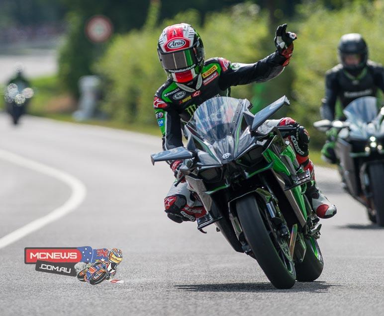 Jonathan Rea - Kawasaki H2R - Schottenring Kawasaki Days 2015