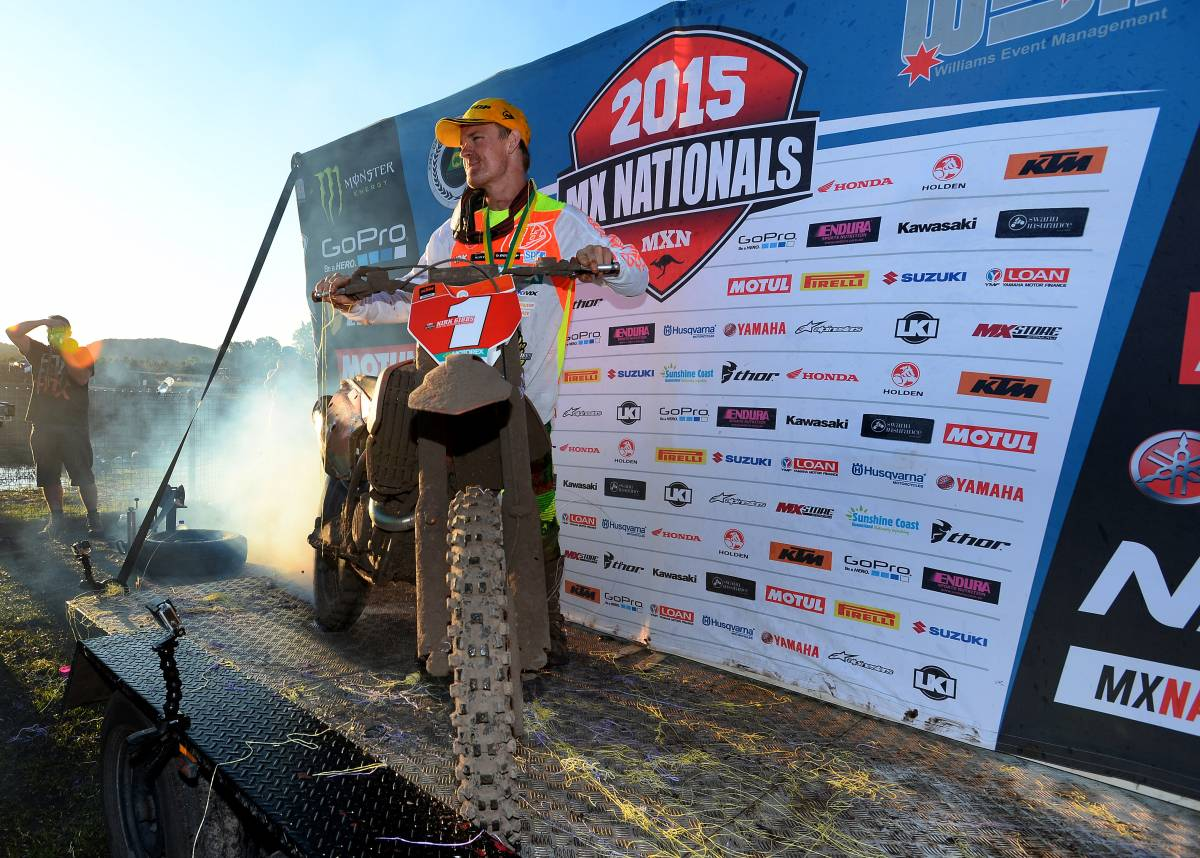 KTM's Gibbs wraps up 2015 Monster MX1 title with a race to spare