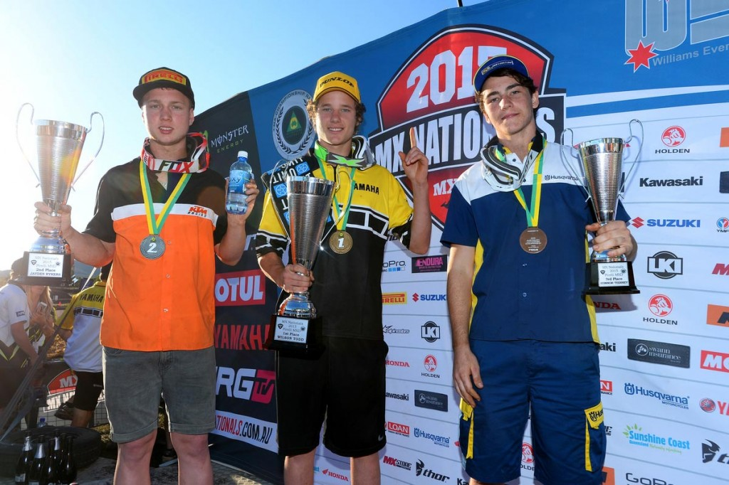 Western Australian Jayden Rykers (left) was the standout rider of MXD in the second half of the season, climbing from fourth to second in the championship.