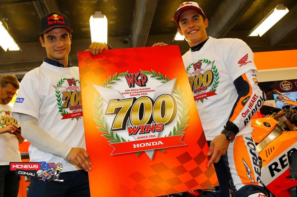 Honda celebrate 700th MotoGP victory