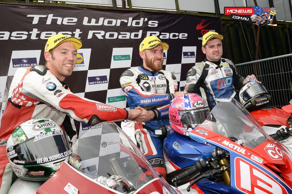 Lee Johnston topped the Superstock podium at the 2015 Ulster Grand PrixLee Johnston topped the Superstock podium at the 2015 Ulster Grand Prix