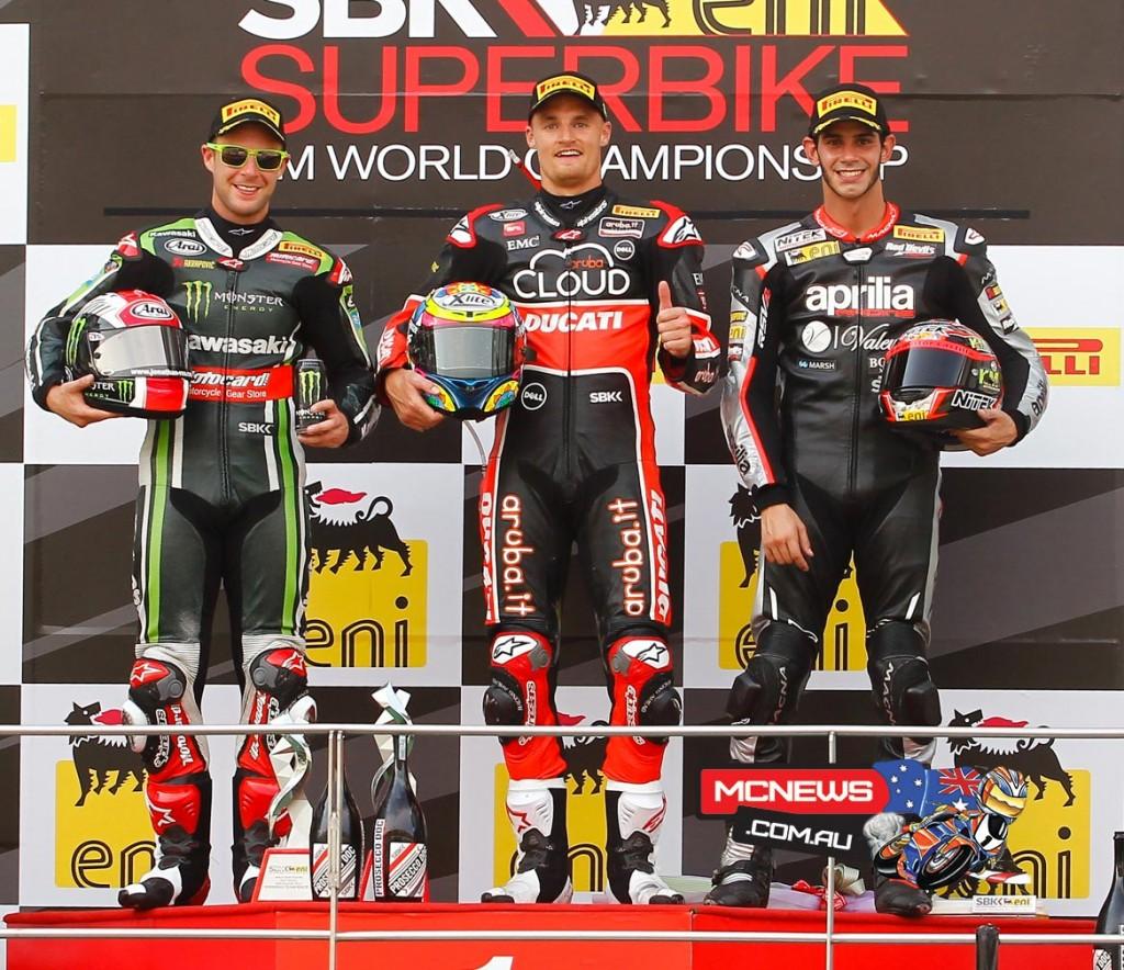 WorldSBK 2015 - Sepang - Race Two Podium