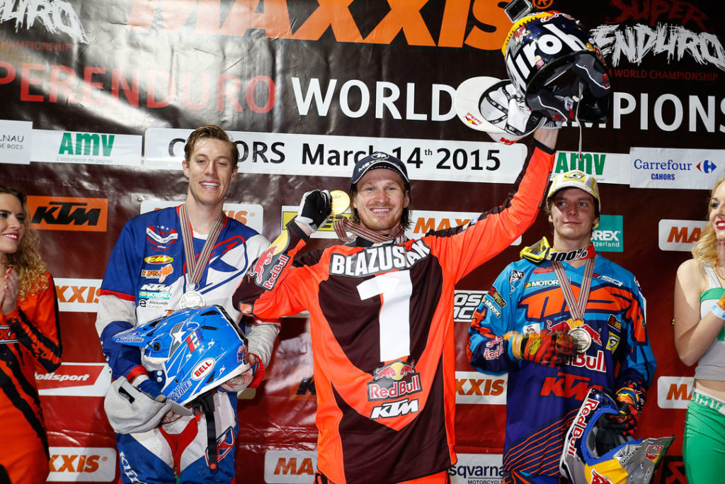 Taddy Blazusiak's plans for 2015 haven't gone the way he hoped they would. Starting the year on form and by wrapping up a sixth consecutive FIM SuperEnduro World Championship title, Taddy was set on returning to Extreme Enduro competition following his amazing run of AMA Endurocross championship successes in the States. At least that was his plan… Diagnosed with the Epstein Barr Virus soon after the ErzbergRodeo, Taddy has been forced to take things easy during the last few months