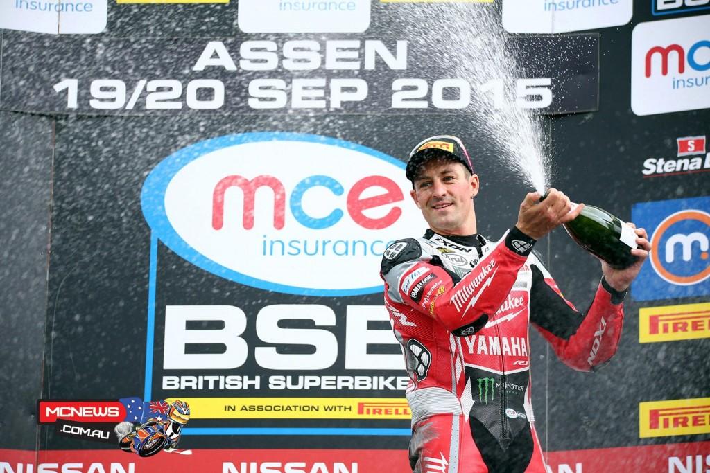 Josh Brookes celebrates Assen BSB win
