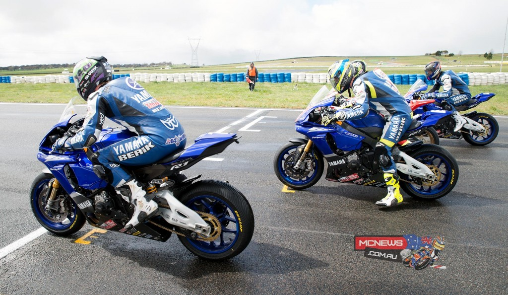 Race one got underway in wet conditions at Wakefield Park this morning