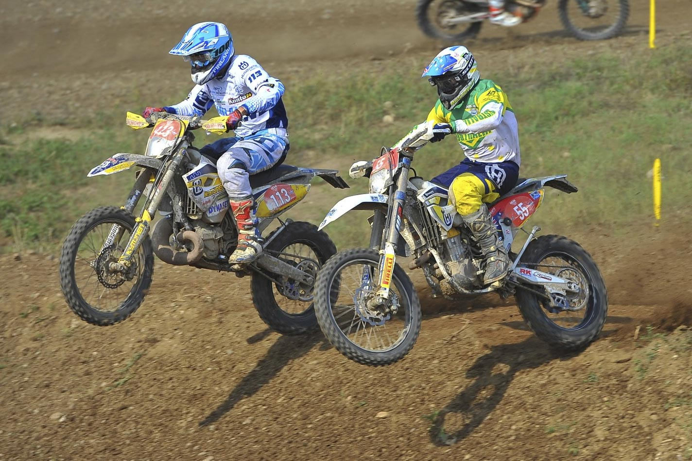Husqvarna-mounted Aussie team members Lachy Stanford and Glenn Kearney flew the flag proudly in Slovakia on their way to equalling Australia's best ever finish in World Trophy classification. Pics: Mark Kariya