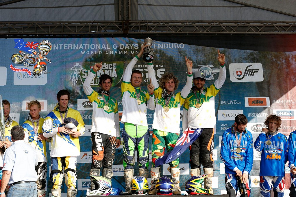 In the FIM Junior World Trophy team competition the day belonged to Australia. Finally ending a twenty-year winless streak, Australia secured the top step of the podium.