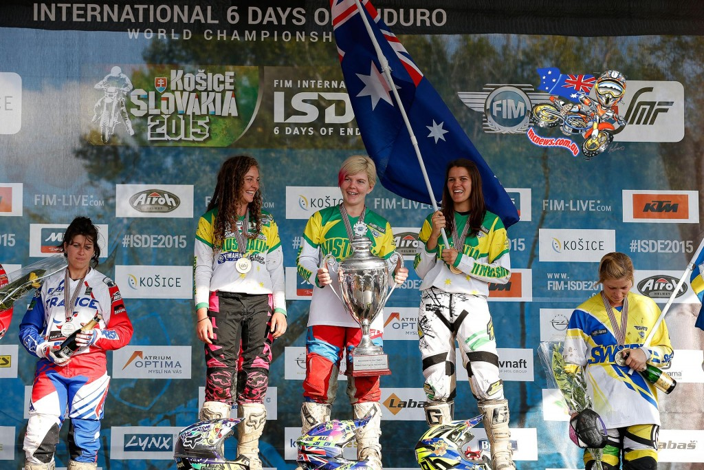 Australia were the clear winners of the FIM Women's World Trophy team competition