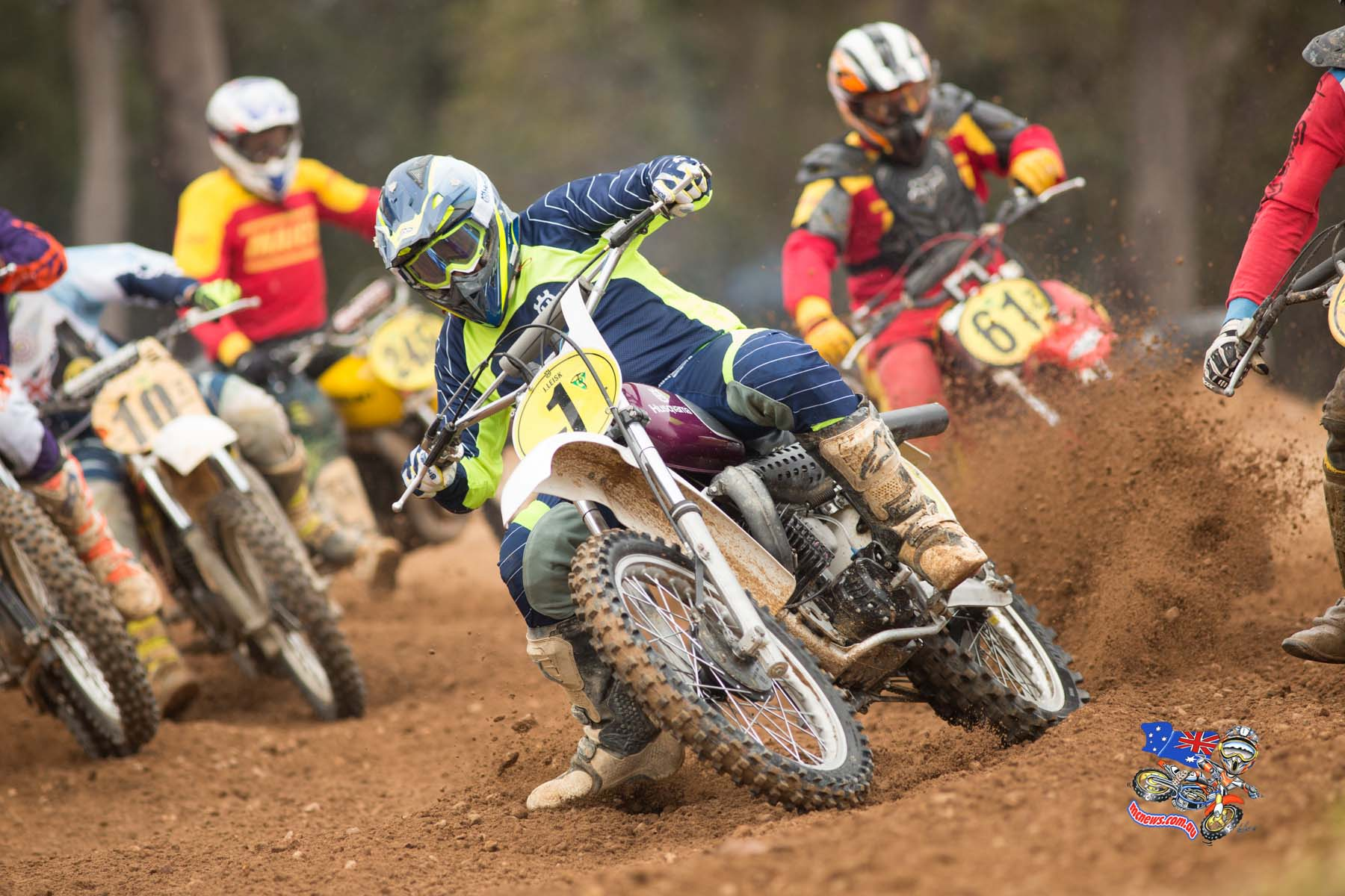 Jeff Leisk at the 2015 Australian Classic Motocross Championship