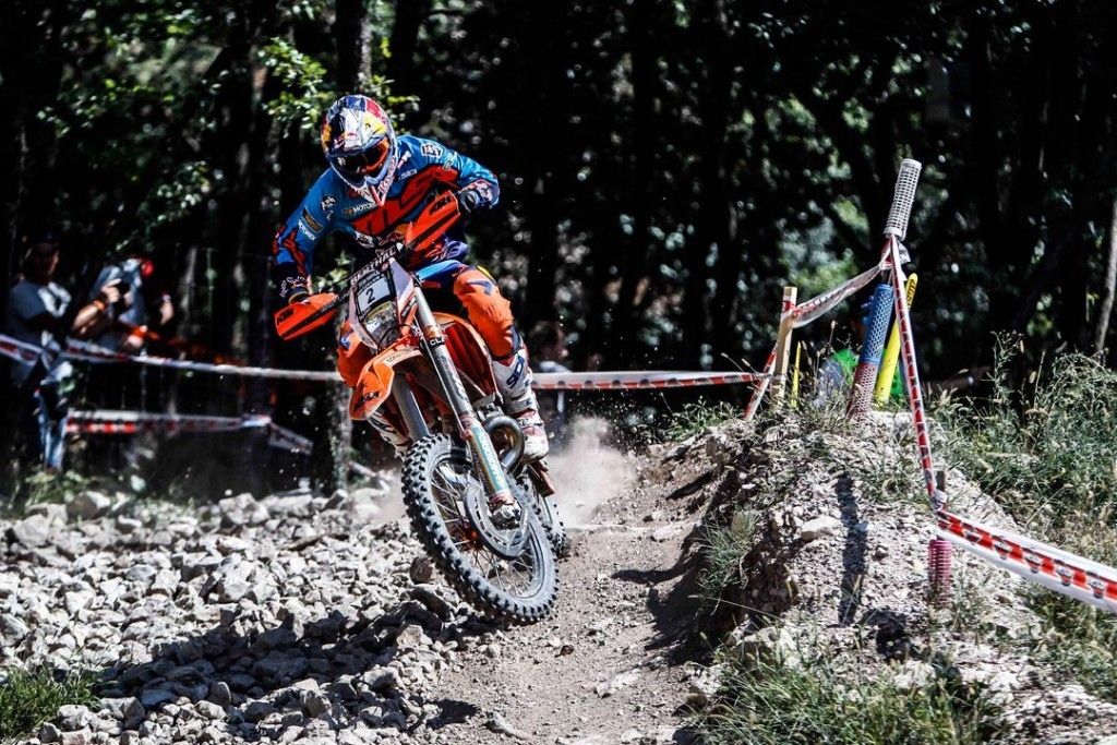 KTM's Jonny Walker has topped the first running of The Wall Extreme Enduro Race held at the Off Road Park in Pietramurata, Trento, Italy