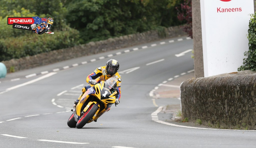 Rob Hodson on the PRF Racing Suzuki GSXR-R600 at Union Mills during the Mylchreests Group Junior Manx Grand Prix race.