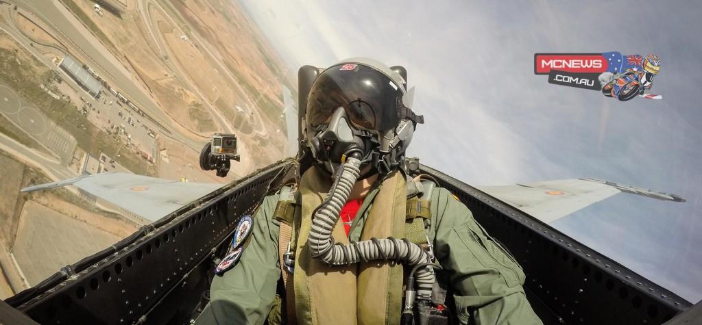 Maverick Vinales flies above MotorLand Circuit