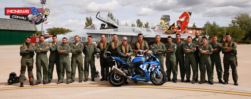 Spanish Air Forces Unit ALA-15 with their special co-pilot Maverick Viñales