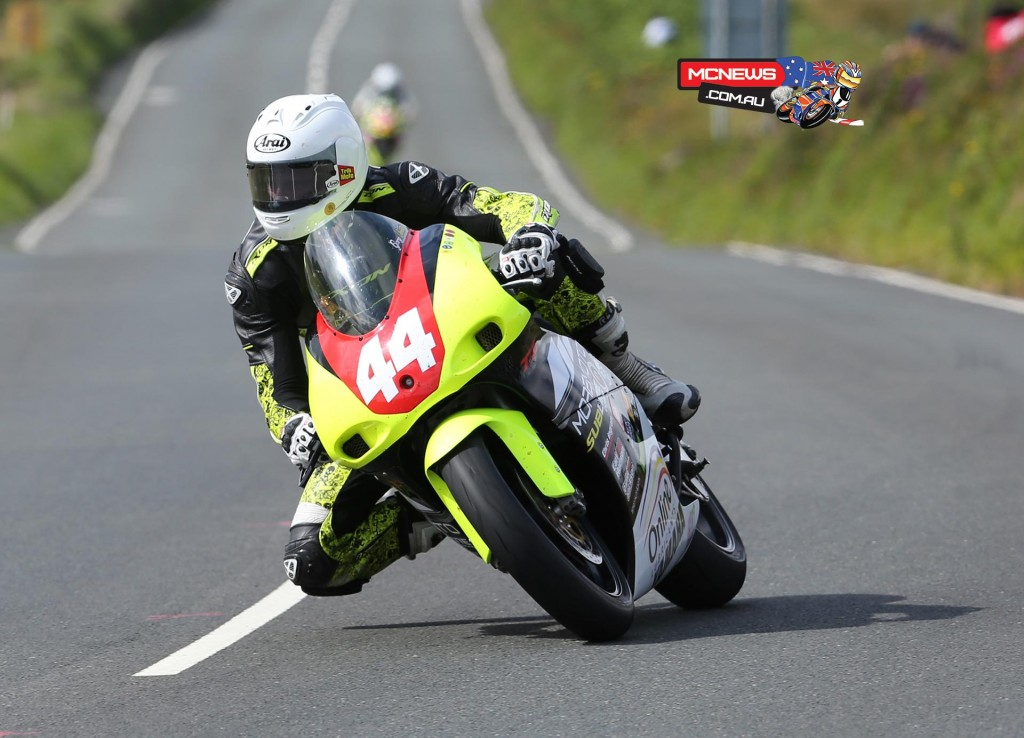 Gary Vines on the Yamaha TZ 250 at the Creg ny Baa during the IMGold Manx Grand Prix Newcomers Race.