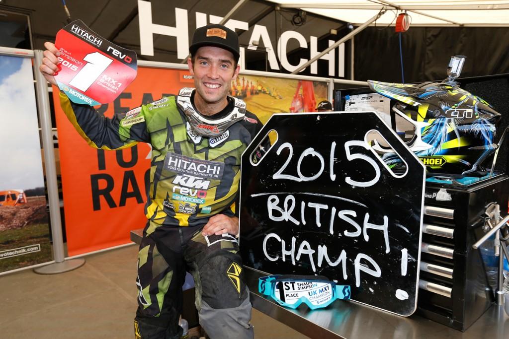 Simpson is the British MX1 Champ