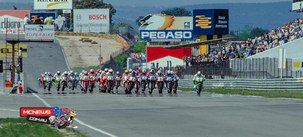 Race start at Jarama - 1991