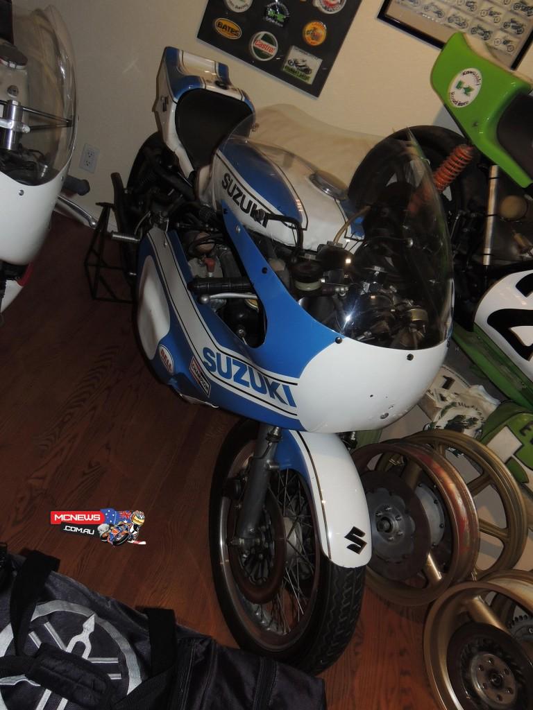 Unnumbered bike. TR750 Suzuki.