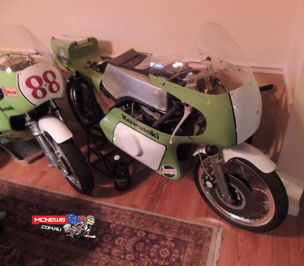Unnumbered bike. F5R 1972-74. 250c and 350cc Singles. A modified Big Horn engine put into a road racing frame. Raced by Baumann and du Hamel, this is the Baumann bike. The arrival of the TZ Yamahas killed the project in 1974.
