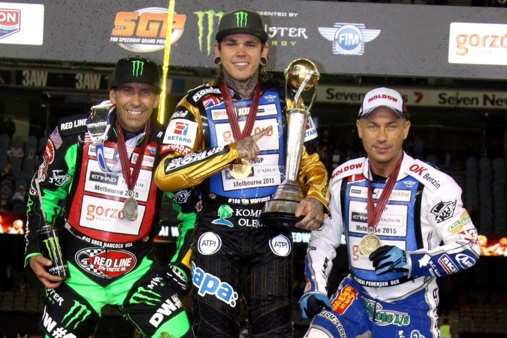 Double world champion Tai Woffinden collected the FIM Speedway World Championship trophy for the second time