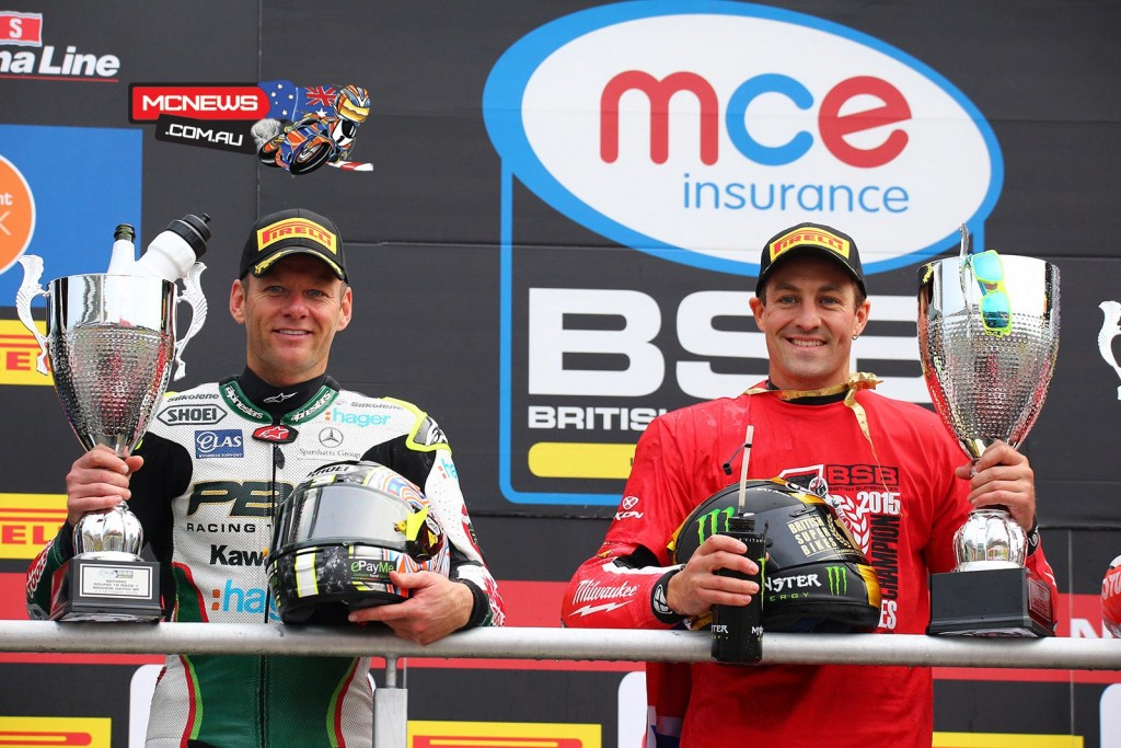 British Superbike 2015 - Brands Hatch - Shane Byrne and Josh Brookes