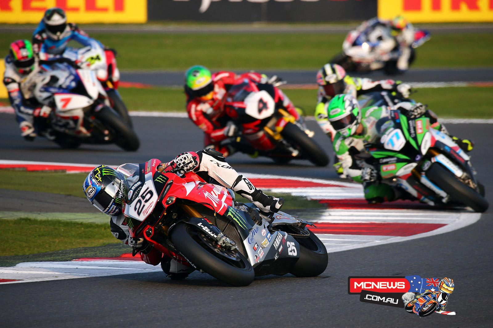 Joshua Brookes leading at Silverstone