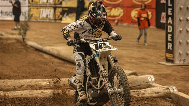 Colton Haaker took the win at the Denver EnduroCross