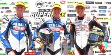 Swann Australasian FX Superbike Championship 2015 - Round Six - Winton Motor Raceway - Ipone Superbike Race Two Podium