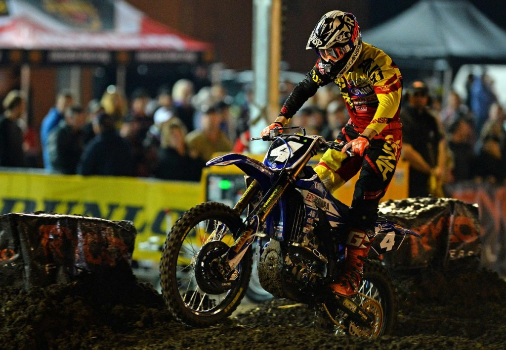 Serco Yamaha's Luke Clout kicked off his 2015 Australian Supercross Championship in fine form with a second place finish in the SX2 division at round one of the series at Bathurst over the weekend.