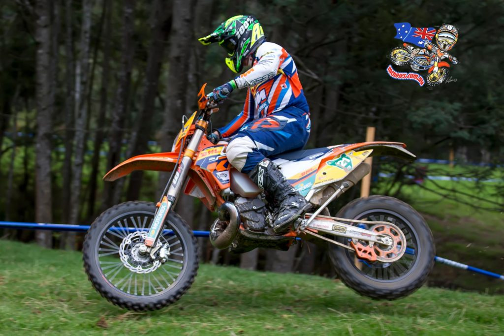Local star and KTM Enduro Racing Team racer Matthew Phillips topped the E3 class in Tuesday's Prologue at the 2015 Yamaha Australian Four Day Enduro in Wynyard, Tasmania (Credit: John Hamilton/Mad Dog Images).