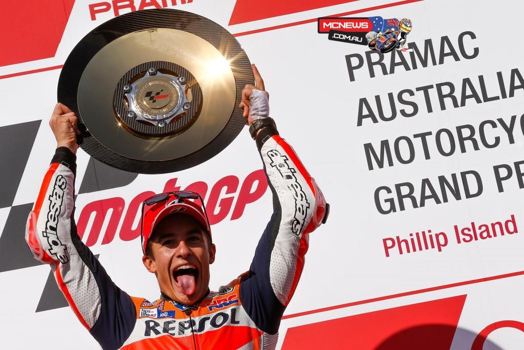 MotoGP-2015-Australia-Marc-Marquez-Trophy